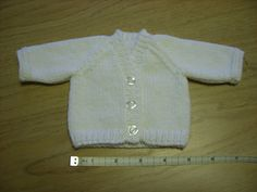 "V-Neck Raglan Cardigan for Premature Baby (10"" chest) by sussmth7, via Flickr"
