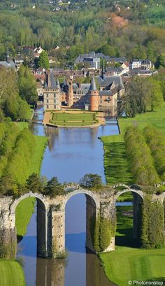 greatlittleplace:  Chateau de Maintenon and the Maintenon Aquaduct, France http://bit.ly/1pGqrXe