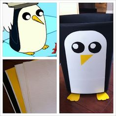 Adventure Time Gunter Garbage Can for the boys room