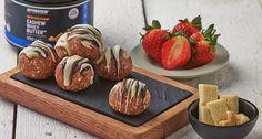 Cashew-Erdbeer Proteinbällchen | Gesundes Nussbutter Rezept