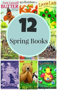 12 Spring Books for Kids -- a list of great books to read with kids to welcome spring!