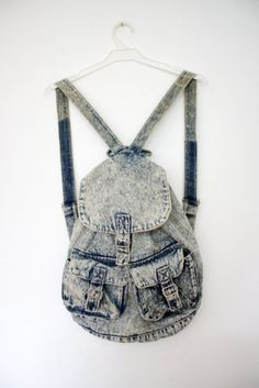 denim bag, super cute! would be perf for school