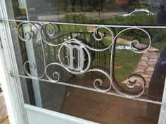 Vintage aluminum screen door. Momma and Daddy had one o there door ( G )