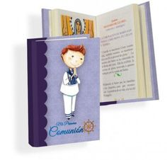 Misal Primera Comunión niño timón  Libros para Primera ComuniónMisal de Primera Comunión, en color morado, con dibujo de niño con traje de marinero.