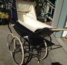 Vintage ROYAL English Baby PRAM Buggy Blue LOCAL PICKUP SF BAY AREA #Royale