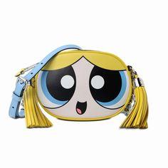 Moschino Powerpuff Girls Womens Small Shoulder Bag Yellow