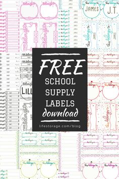 Get everything in place with these Back to School Organization Printables from Mandy's Party Printables. See the supply organization tricks here! Book Labels, Kids Labels, Printable Labels, Party Printables, Preschool Printables, Free Printables, Free School Supplies, School Supplies Organization, Classroom Organization