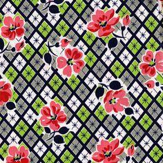 Vintage 1950's Cotton Fabric