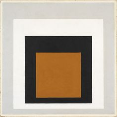 Josef Albers and one of his odes to the square.