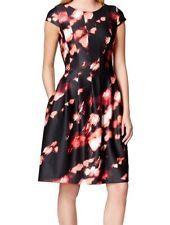 Calvin Klein NEW Black Womens Size 10P Petite Pleated Sheath Dress $134 030