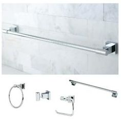 @Overstock - Easily renew the appearance and design of your bathroom with this 4-piece bath set in a chrome finish. This luxurious set features strong and durable construction to create a long-lasting addition to your bathroom.http://www.overstock.com/Home-Garden/Chrome-4-piece-Bathroom-Accessory-Set/6212986/product.html?CID=214117 $77.99