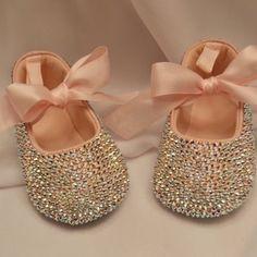 Pink Baby  Swarovski Crystal Shoe - Wow, has over 2000 swarovski crystals on each ballet slipper!