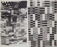bauhaus weaving | Bauhaus weavings. The carpet on the left is by Otti Berger from around ...