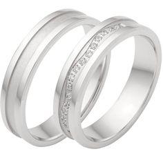 Sterlingsilber 925/- Trauringe mit Zirkonias Beautiful Diamond Rings, Sterlingsilber, Tie Knots, Marriage, Wedding Rings, Engagement Rings, Inspiration, Jewelry, Wall Papers