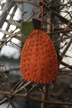 wool felt pumpkin ornament autumn decoration
