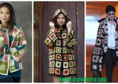 Crochet Granny Square Jacket Cardigan Free Patterns Instructions