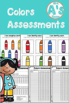 Everything you need to assess your kiddos' ability to recognize and identify colors is in this simple and easy-to-prep assessment kit! And the price is right, too! Preschool Color Activities, Preschool Ideas, Christian School, Data Sheets, Teacher Tools, Learning Colors, Preschool Kindergarten, Pre School, Assessment