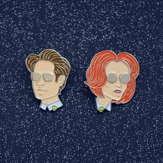 Mulder and Scully Enamel Pins