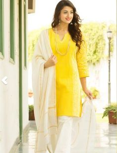 Fabindia Yellow and White