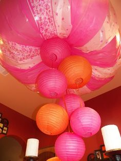 pink and orange baby shower