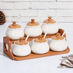 Kitchen Utensils List, Kitchen Jars, Kitchen Dishes, Wooden Kitchen, Kitchen Items, Kitchenware Set, Temple Design For Home, Hinoki Wood, Unicorn Room Decor