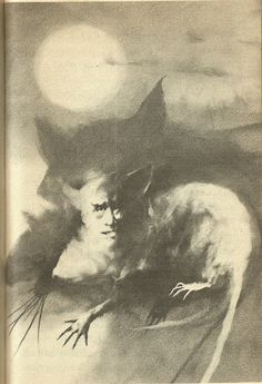 "The shape-shifting vampiric Mora of slavic myth, from Stephen Gammell's illustrations for ""Meet the Vampire."""