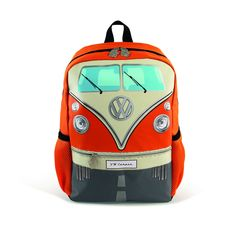 Officially Licensed Volkswagen T1 Bus Small Backpacks! Features: - One main compartment - Padded breathable back panel - Adjustable straps - 2 mesh side pockets - Zippered front pocket. - Material: st