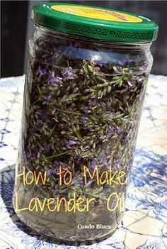 How to Make Lavender Essential Oil (this is actually a tincture... according to page... :) )