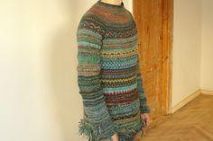 Handmade wool Icelandic style sweater by TASSSHA on Etsy