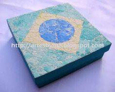 caixa do Brasil com casca de ovo (artes by Má: caixas decoradas)