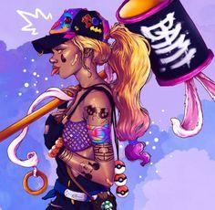 Black Love Art, Black Girl Art, Black Girl Magic, Sexy Black Art, Arte Black, Black Art Pictures, Urban Pictures, Black Girl Cartoon, Black Anime Characters