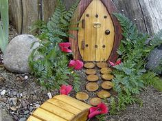 Cute fairy doors! (May be where the elf on the shelf resides after Christmas??)