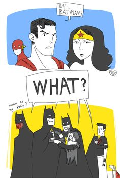Too many Batmen by Nicca11y