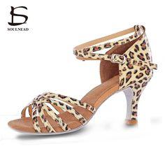 2017 Summer New Arrivals Women Ladies Ballroom Latin Dance Shoes High Heel Soft Sole Professional Tango Salsa Girls Dancing Shoe #Affiliate