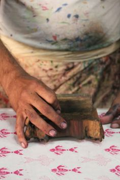 An Indian textile designer from rikshaw design