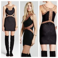 FREE PEOPLE Neferti Dress size small Cute Free People dress with a form fitting silhouette. Great condition. Size Small. Free People Dresses