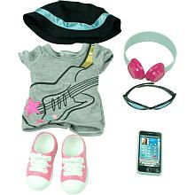 """Journey Girls 18 inch Doll Fashion Outfit - Rocker T-Shirt with Accessories - Toys R Us - Toys """"R"""" Us"""