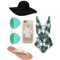 Beach by dascalubella on Polyvore featuring polyvore fashion style Mara Hoffman Wet Seal Casetify Monki