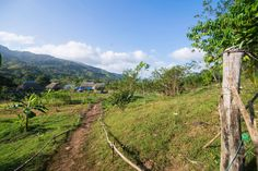 Kalu Yala, Panama view from the campground to Basecamp at the permaculture farm