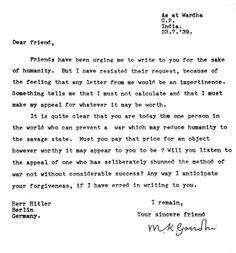 Letters of Note: le lettere di Gandhi ad Adolf Hitler, laddio di Virginia Woolf, i fan di Elvis. Il libro di Shaun Usher (FOTO)