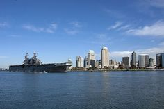 SAN DIEGO The amphibious assault ship USS Peleliu (LHD 5) transits through the San Diego Bay. Peleliu is returning from a scheduled underway in preparation for its upcoming 2012 deployment. (U.S. Navy photo by Mass Communication Specialist 3rd Class Stephen M. Votaw/Released)