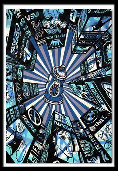 Speedy Graphito (1961-) Home Street Home (Blue) http://www.denisbloch.com/object.php?id=911