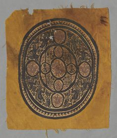Fragment of Round Segmentum, 500s  Egypt, Byzantine period, 6th century  tabby ground, inwoven tapestry ornament; wool, Overall - h:34.00 w:29.20 cm (h:13 3/8 w:11 7/16 inches). Purchase from the J. H. Wade Fund 1982.270