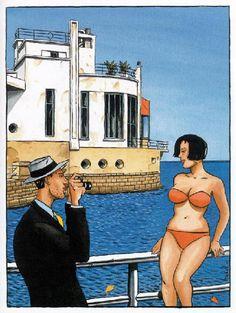 Jacques de Loustal - Affiche + ex-libris Illustrations, Illustration Art, Denis Zilber, Rock N Folk, Naive, Under The Shadow, Ligne Claire, Bd Comics, The Draw