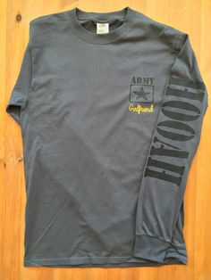 Army Long Sleeve T-Shirt For a rush order please contact me before purchasing! These shirts are unisex sizing. They are 100% pre-shrunk cotton. I will gladly send size charts upon request. Womens fit shirts can also be used upon request. All relationships are available and everything