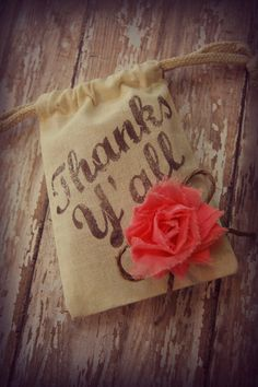 Country chic  favor bags by ShabbyCountryChic on Etsy, $3.25