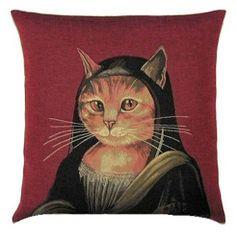 Mona Lisa Belgian Tapestry Cushion