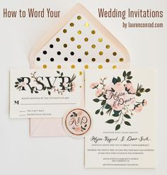 I truly love etiquette! Wedding Bells: Invitation Etiquette From LaurenConrad.com