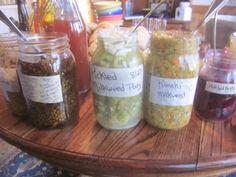 Wild fermented veggies from my friend, Holly :)  She ROCKS wild food!!!