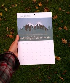 Twin Peaks Wall Calendar 2015 by AndSoItGoesShop on Etsy